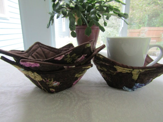 Microwaveable Handmade Cup And Glass Cozies, Set Of 4