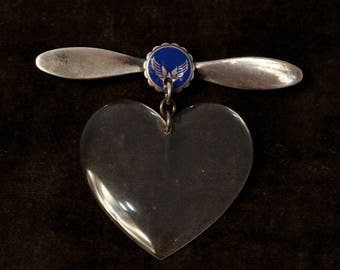 Vintage Sterling Silver Flight Attendant Pin