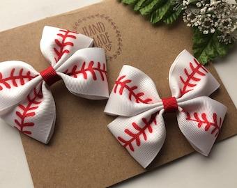 Baseball Mini Bow