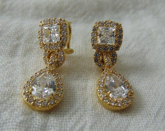 Fine Jewelry Fine Earrings 2019 Latest Design Gorgeous Judith Ripka Sterling Silver Sparkly Cz Diamonique Clip Earrings Reputation First