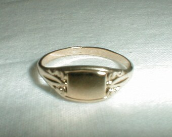 vintage esposito signet ring antique edwardian style j.esposito rings ring sz.7 espo ring statement ring