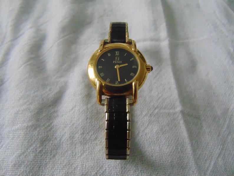 design di qualità b8e22 e7897 ladies fendi orologi watch gold black vintage signed as is