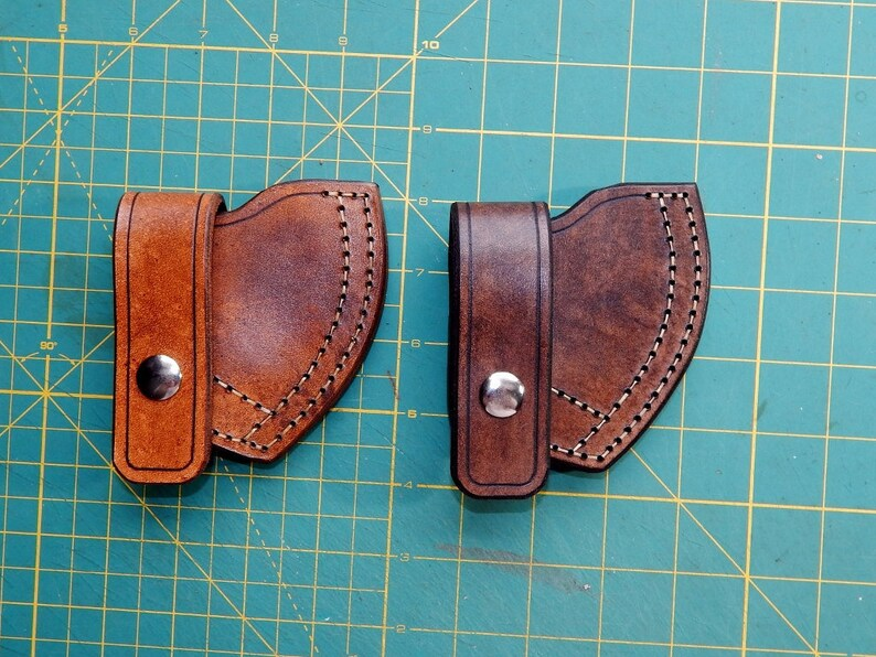 Leather sheath for Cold Steel Trailhawk tomahawk