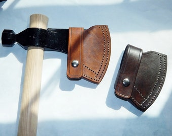 Leather sheath for Cold Steel Rifleman tomahawk; bushcraft; hiking; camping; Hand made in USA by Walk By Faith 777; custom orders welcome