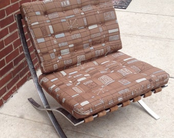 Vintage Barcelona Style Lounge Chair Printed Fabric