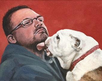 CUSTOM 5x7 PORTRAIT, Pet Portrait, Custom Painting, Dog, Cat, Special Gift, Birthday Gift, Family Pet, Small Gift, Christmas Gift, Birthday
