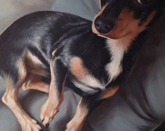 CUSTOM Pet Portrait size 11x14 Pet Painting, Animal Portrait, Custom Portrait, Dog Portrait, Dog Painting, Special Gift, Christmas Gift