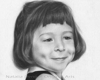 CUSTOM Portrait, Family Gift, 5x7 Charcoal Portrait, Pencil portrait, Special Moment, Anniversary Gift, Special Drawing, Custom Drawing