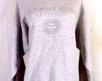 bfac7ca4a02d70 vtg 90s Rare Bootleg Victorias Secret Crop Sweatshirt Misspelled Underwear  XL