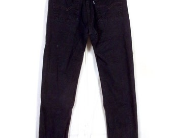 c053e3a1 vtg 90s Levis Silvertab Straight Leg USA Made Black Denim Jeans 5 pocket 30  X 32