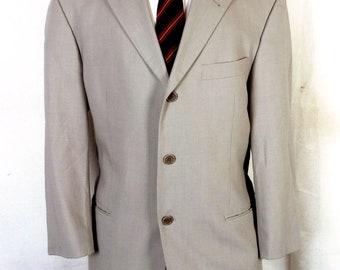 50af0bc64 euc Hugo Boss Einstein Sigma Light Tan Blazer Sportcoat wool polyamid nylon  40 S
