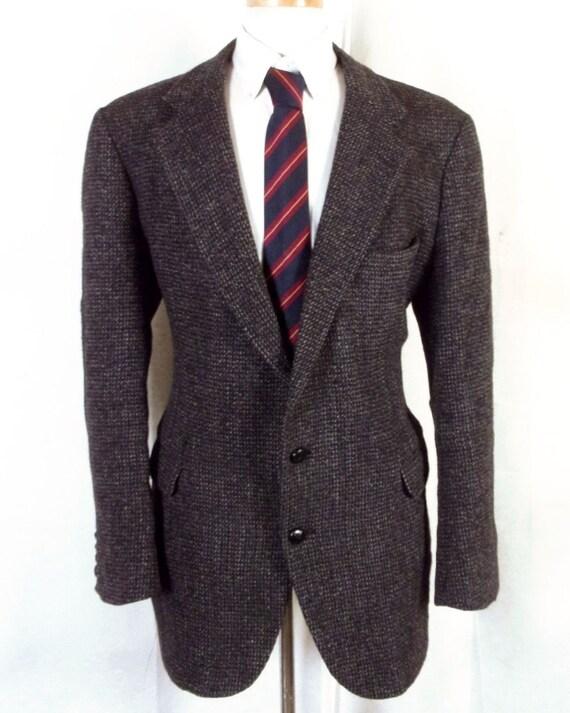EUC Bristol comté coloré gris moucheté 100 % Harris Tweed Blazer Sportcoat 45 L