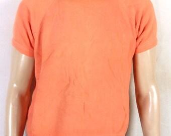 vtg 50s 60s rare Penneys Towncraft LOUD Bright Peach Sweatshirt SS raglan L
