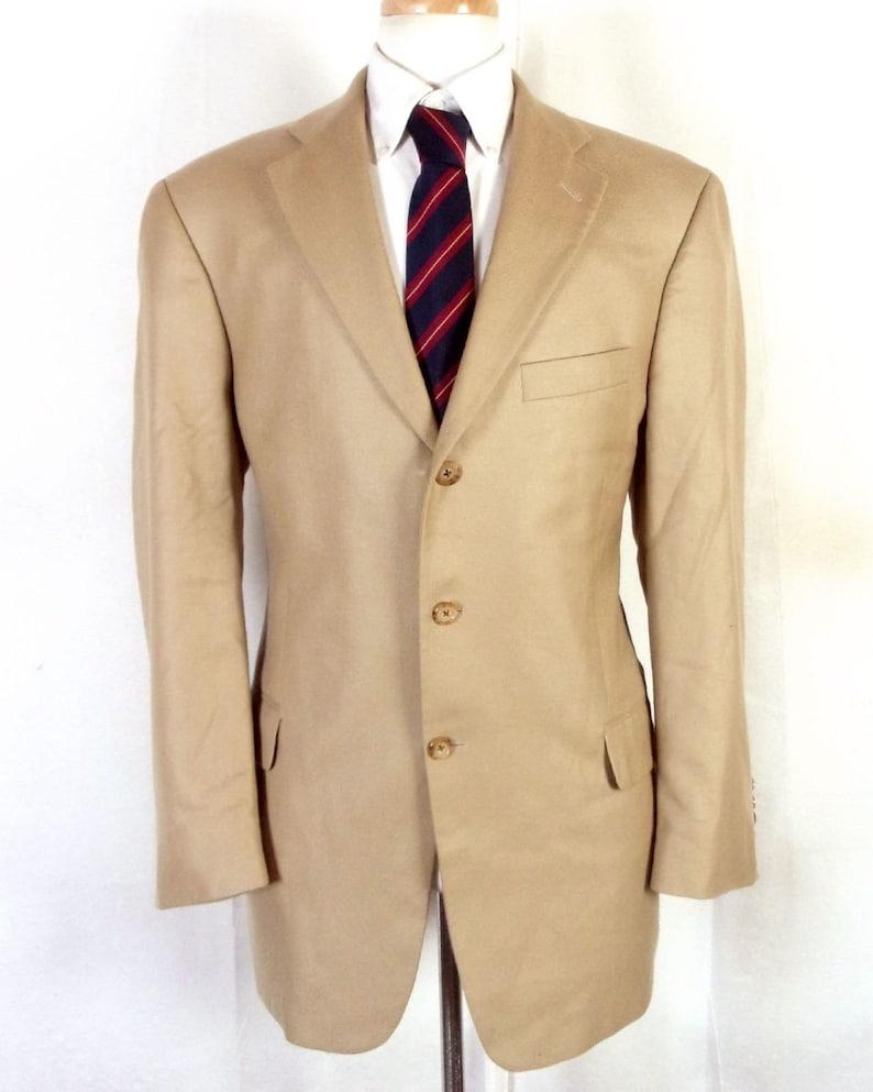 Suits & Suit Separates Euc Bill Blass Dark Grayish Brown Cashmere Blend Herringbone Blazer Sz 44 L