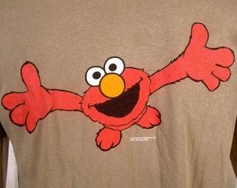 vtg 90s Changes Furry Little Elmo T-Shirt Sesame Street TV Show Jim Henson M