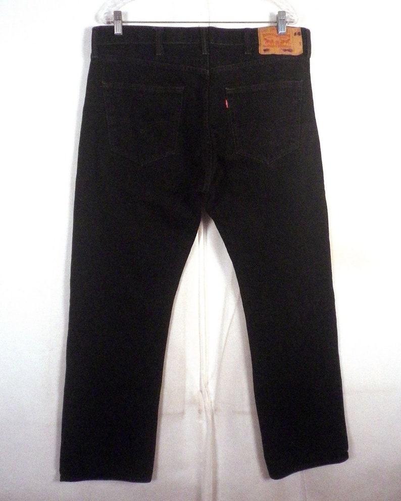 f1fbb2e7 Vtg 80s 90s Levis 501 Button Fly straight leg Black Denim | Etsy