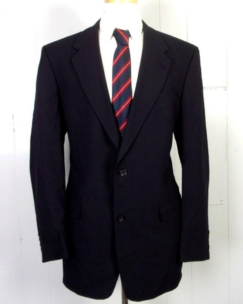 vtg 90s euc Hart Schaffner Marx Solid Charcoal 100/% Wool Gabardine Men/'s 2 Pc Suit 41 L