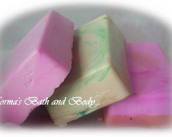 goats milk glycerin soap. pack of 3