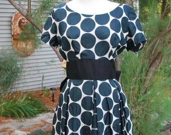 1950's Silk Polka Dot Party Dress