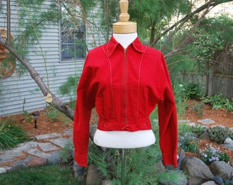 1950's Northlander Red Canvas Ladies Jacket