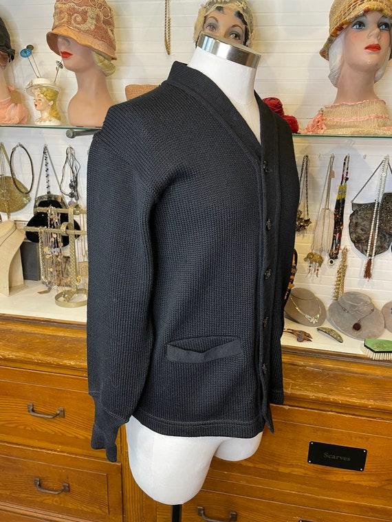 1940s men's wool cardigan