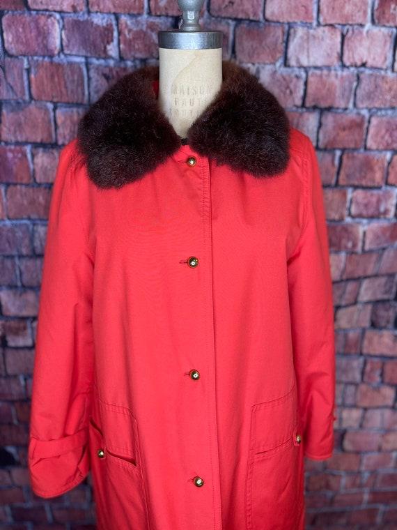 1960s Bonnie Cashin fur lined coat - image 2