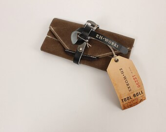 Essential Bike Tool Roll - Brown with Black Strap