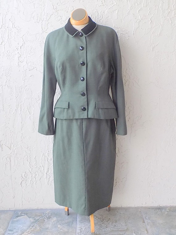 Vintage 40's/50's Green Wool Suit