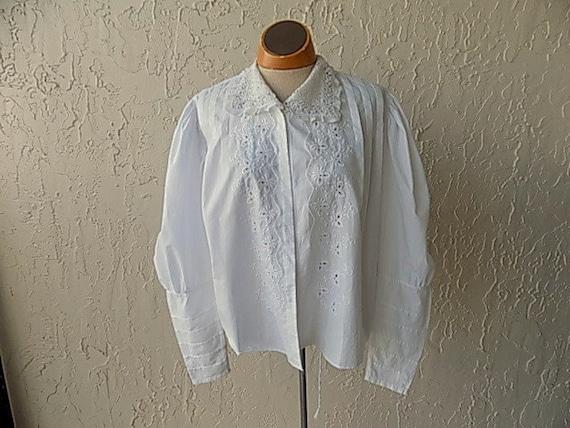 Vintage Early 1900's White Cotton Blouse