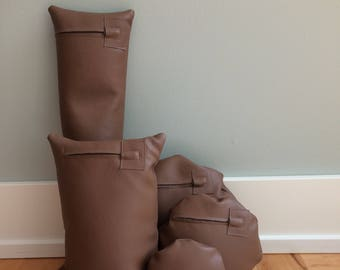"Five ""Chocolate Milk"" Waterproof Vinyl Photo Props for Positioning Baby, Bundled in a Sack"
