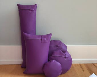 Half Price!  Five Bright Purple Waterproof Vinyl Photo Props for Positioning Baby, Bundled in a Sack