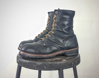 0988f3d4d3d29 Moto grunge boots | Etsy