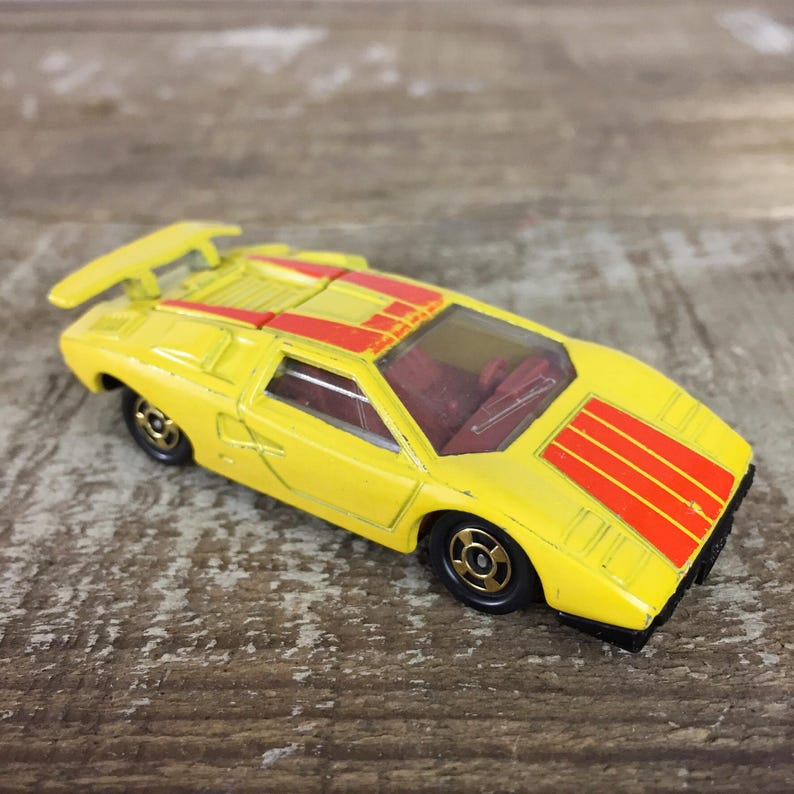 Tomica Lamborghini Countach 1978 Made In Japan Die Cast Metal Etsy