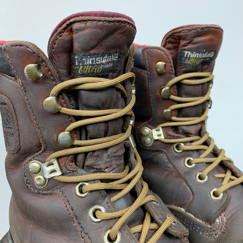2747f37e870 Northlake Gortex Work Boots Brown Leather Men's 7.5 Women's 9.5 Grunge  Boots Outdoor Lace Up Ankle Boot Lumberjack Carpenter Utility Boot