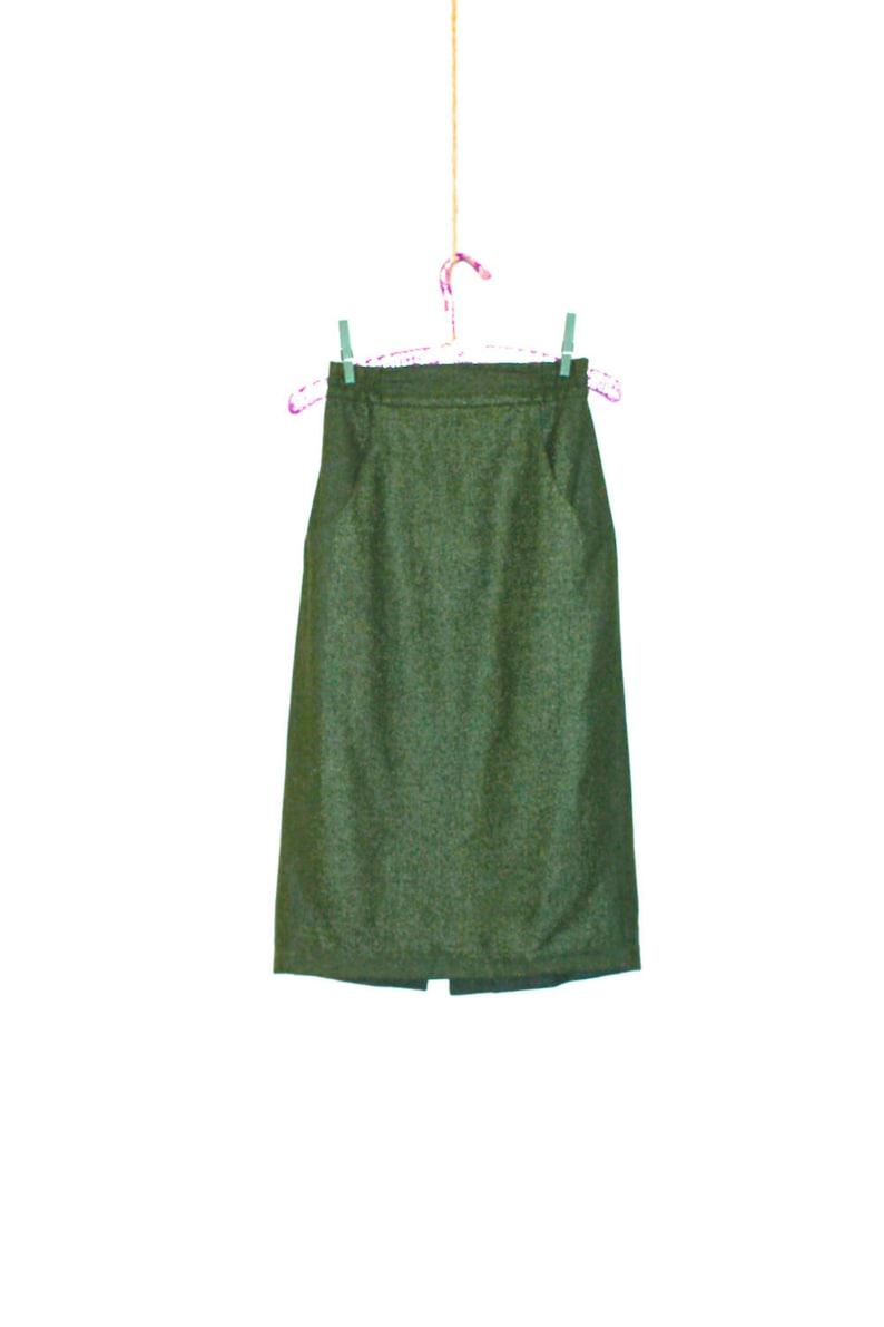 ecf013a2c2 Green Wool Pencil Skirt Women's XS 1960's Vintage | Etsy