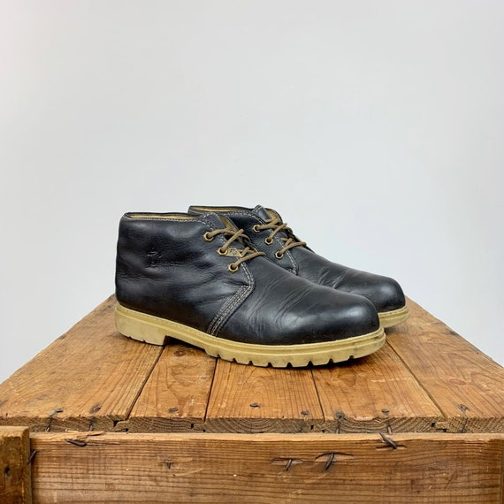 229eec551ff Havana Joe Chukka Boots Ankle Boots Men's 14 Women's 16 Lug Lugged Sole  Lace Up Navy Blue Leather