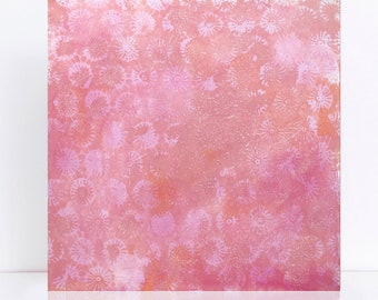 pink painting- coral - original art ooak, australian artwork, coral art, acrylic painting art ready to hang art on canvas, pink abstract art