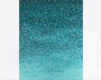 original painting on canvas, original art - turtle cove - turquoise abstract painting, modern wall art, underwater, sea artwork, surf art