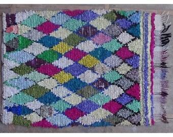 "180X125cm 5'9""x4'1"" T42389  Boucherouite rug Beniourain, Beniouarain, berber rug morocco visit our 900 choices at moroccan-berber-rugs.com"