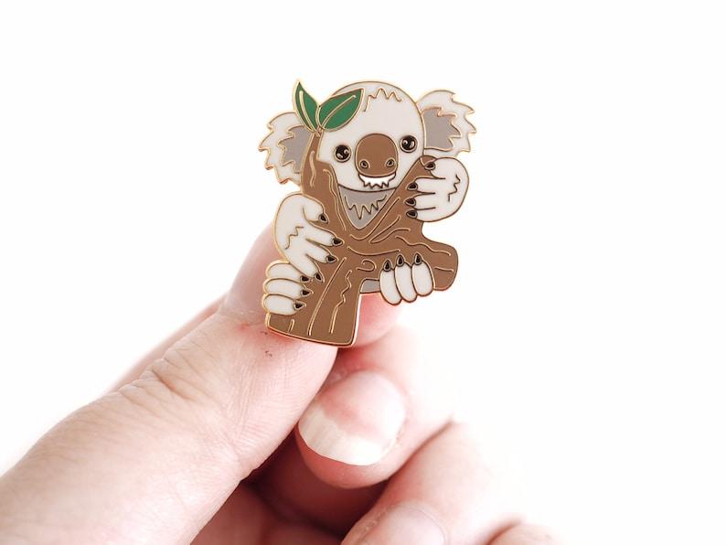 Koala hard enamel pin. Australian animal lover gift idea image 0