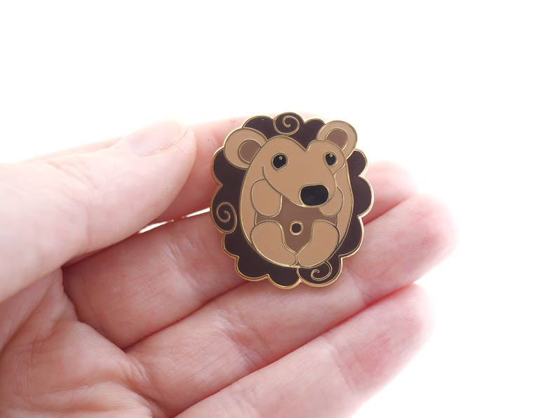 Adorable Hedgehog enamel pin. image 0