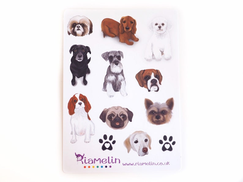 Dog stickers planner addict bujo stickers puppies dog image 0