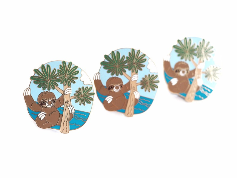 Seconds pin sloth enamel pin tree climber sloth lover image 0