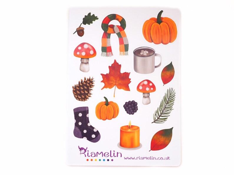 Autumn Fall bujo stickers. image 0