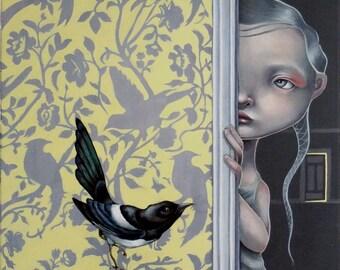 "Limited edition Giclee print ""The wakening""  pop surrealism, popart, lowbrow art, juxtapoz, new contemporary, urban art"