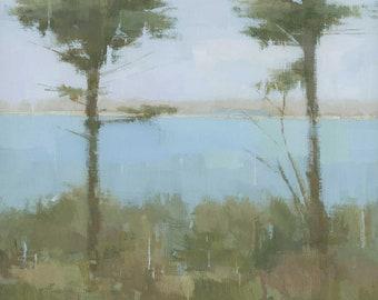 2 Trees Scillies Cornish Landscape Painting Signed Fine Art Print