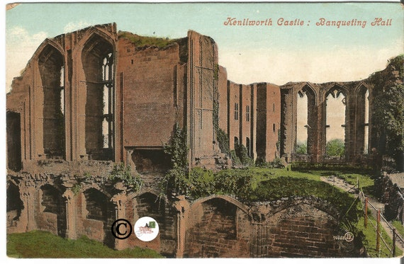 Vintage Undivided Back Postcard, Banqueting Hall, of Kenilworth Castle in  Warwickshire