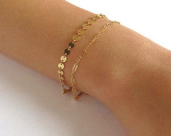 Dainty Chain Bracelet - Gold Bracelets - Silver Bracelets - Layering Bracelets - Rose gold Bracelets