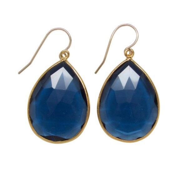 Earring Faceted  Multi Quartz and Chalcedony Earrings  Statement earring Bezel Set Earrings Gemstone Earrings  Bridal earring Beautiful Gift