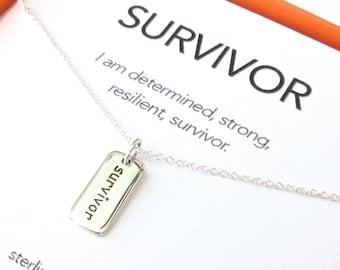 Survivor Charm Necklace Set